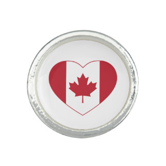 Canada Flag Heart Ring