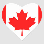 canada flag heart stickers