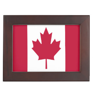 Canada Flag Home Jewelry Keepsake Box