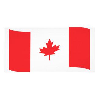 canada flag icon customized photo card