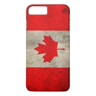 Canada Flag in Grunge iPhone 7 Plus Case