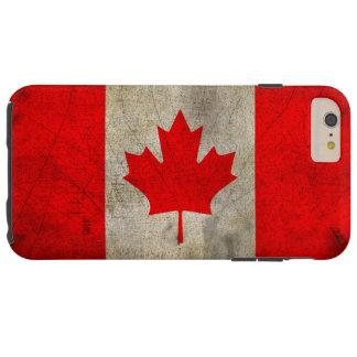 Canada Flag in Grunge Tough iPhone 6 Plus Case