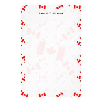 Canada Flag in Multiple Colorful Layers Askew Stationery