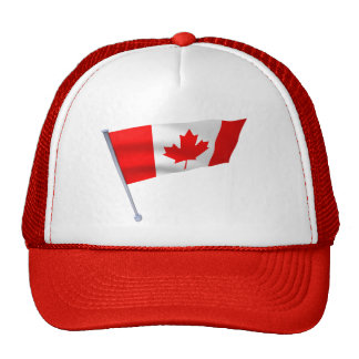 Canada flag in the wind hats