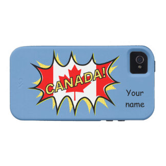 Canada Flag Kapow Comic Style Star iPhone 4 Covers