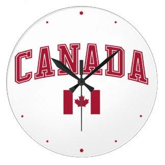 Canada + Flag Large Clock