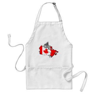 canada flag map standard apron
