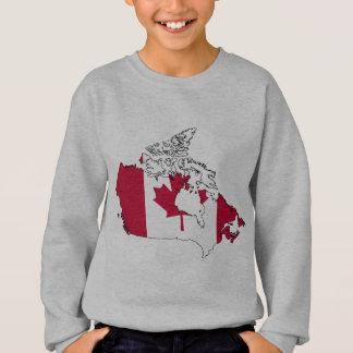 Canada flag map sweatshirt