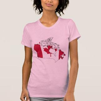 Canada flag map T-Shirt