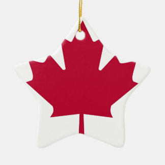 Canada Flag Maple Leaf design Ceramic Star Decoration