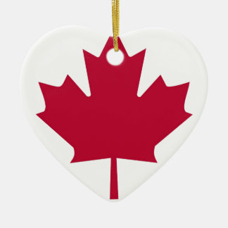 Canada Flag Maple Leaf design Christmas Ornament