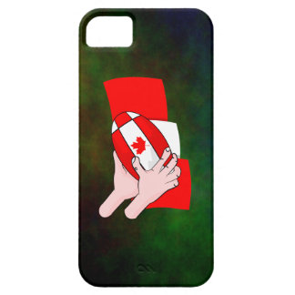 Canada Flag Maple leaf Rugby Ball Case For The iPhone 5