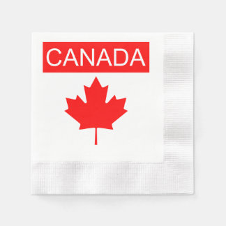 Canada Flag Napkins Lighthouse Route Disposable Napkins