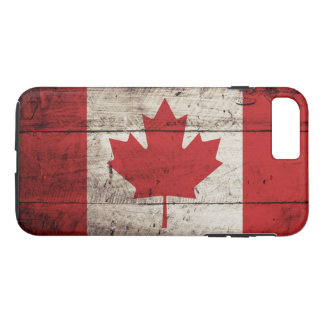 Canada Flag on Old Wood Grain iPhone 7 Plus Case