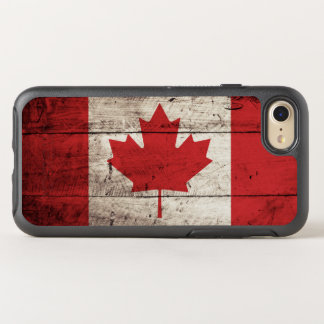 Canada Flag on Old Wood Grain OtterBox Symmetry iPhone 7 Case