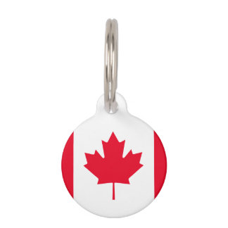 Canada Flag Pet ID Tag