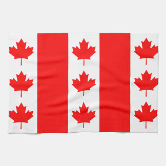 Canada Flag Proudly Canadian Oh Canada! Nation Tea Towel