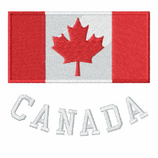 Canada Flag Sherpa Lined Sweater Embroidered Hooded Sweatshirt