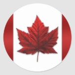 Canada Flag Stickers Red Canadian Flag Stickers