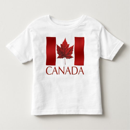 Canada Flag Toddler T-shirt Canada Baby Tee Shirt