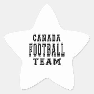 Canada Football Team Star Stickers