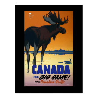 Canada For Big Game Post Card