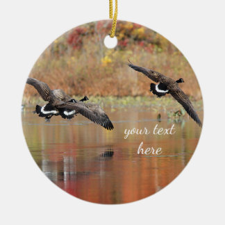 Canada Geese in Flight Christmas Ornament