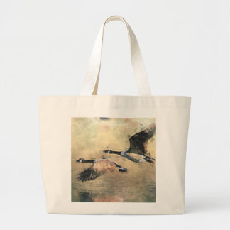 Canada Geese Large Tote Bag