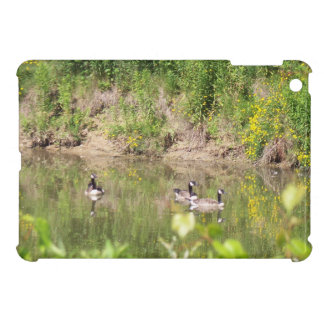 Canada Geese on Pond iPad Mini Case