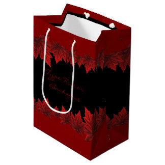 Canada Gift Bags Custom Canada Maple Leaf Gift Bag