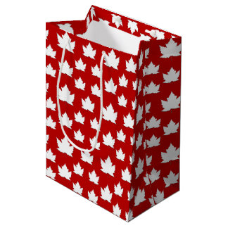 Canada Gift Bags Cute Canada Maple Leaf Gift Bag