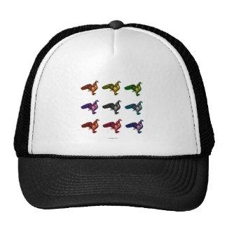 canada goose bird art mesh hats