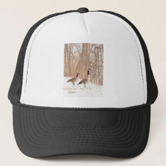 Canada Goose in Snowy Woods Trucker Hat