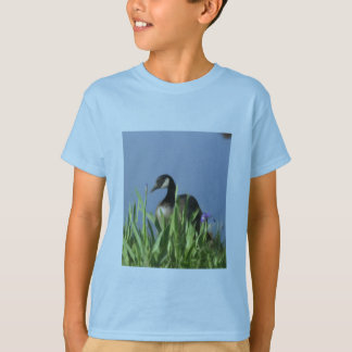 Canada Goose Irises Animal Art Shirt