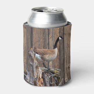 CANADA GOOSE ON BARN BOARD CAN COOLER