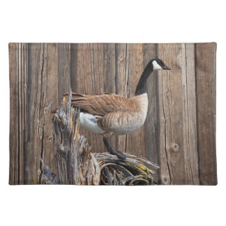 CANADA GOOSE ON BARN BOARD PLACEMAT