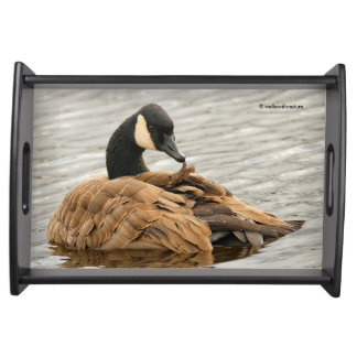 Canada Goose on the Lake Serving Tray