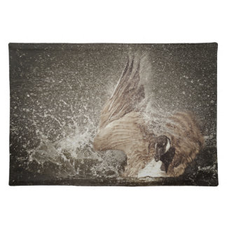 Canada Goose Slapping Water Photographic Art Placemat