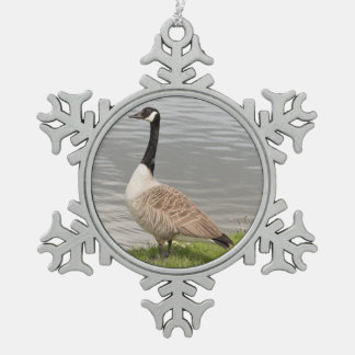 Canada Goose Snowflake Pewter Christmas Ornament