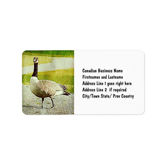 Canada Goose - Watercolor Painted Effect Address Label