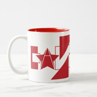 Canada graphic textual design Two-Tone coffee mug