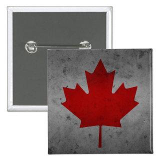 Canada Grunge Flag Canadian Maple Leaf 15 Cm Square Badge