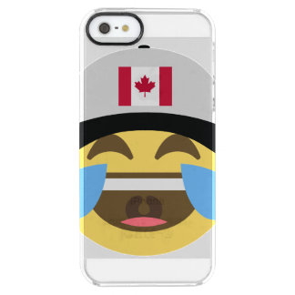 Canada Hat Laughing Emoji Clear iPhone SE/5/5s Case