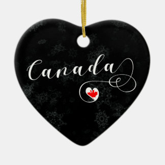 Canada Heart, Christmas Tree Ornament, Canadian Christmas Ornament