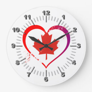 Canada heart large clock