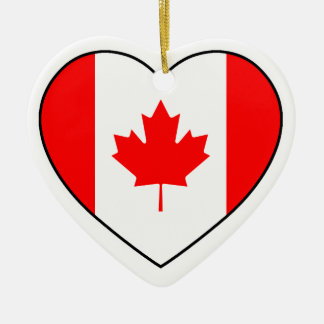 Canada Heart Ornament for Christmas Tree