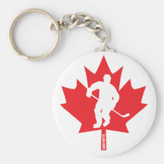 Canada Hockey Maple Leaf Player Key Ring