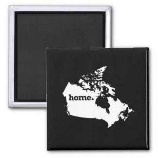 Canada Home Square Magnet