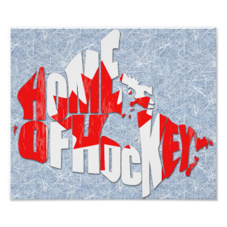 Canada Home of Hockey Map Photo Print