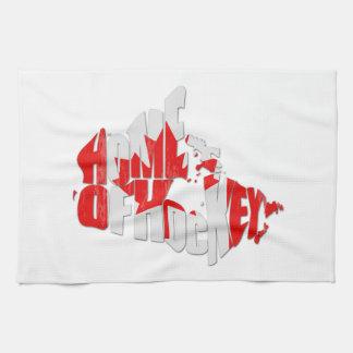 Canada Home of Hockey Map Tea Towel